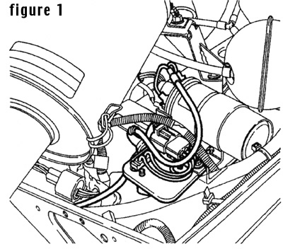 Diagram to install the STC1856 Land Rover Ignition Amplifier Module Relocation Kit