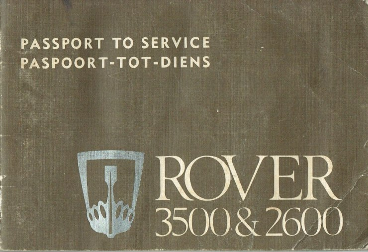 DSC_0001 Rover 3500 & 2600 South Africa Passport to Service South Africa Cover