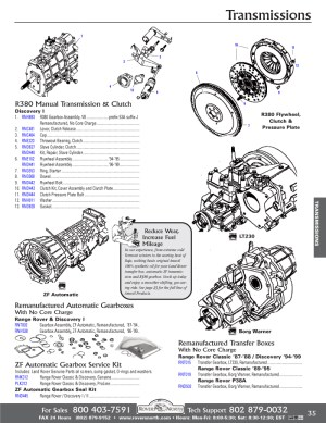 Range Rover Classic Gearbox Transmission   Rovers North  Land Rover Parts and Accessories Since