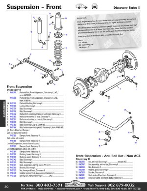 Land Rover Discovery II Front Suspension | Rovers North  Land Rover Parts and Accessories Since