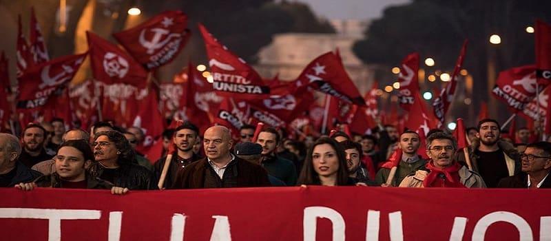 Η εκλογική επιρροή του ΚΚ Ιταλίας ανά περιφέρεια (2018)