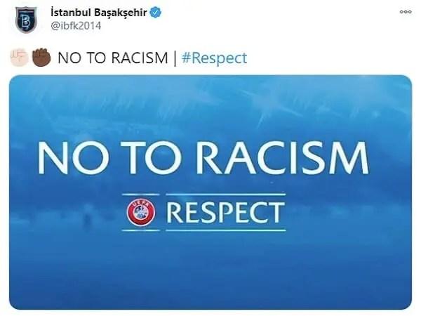 Αποχώρησε η Μπασακσεχίρ επειδή ο διαιτητής αποκάλεσε «νέγρο» τον βοηθό προπονητή