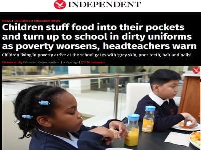 Βρετανία: Χλωμοί μαθητές γεμίζουν τις τσέπες τους με φαγητό
