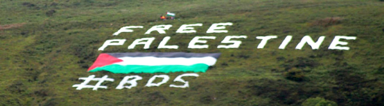 Γιγαντιαία σημαία της Παλαιστίνης στο Βόρεια Ιρλανδία - Ισραήλ