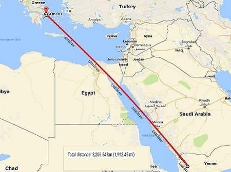 χάρτης Μέση Ανατολή