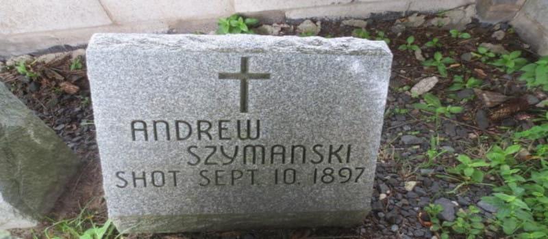 Τάφος δολοφονημένου αναθρακορύχου στο Λάτιμερ