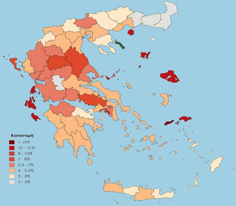 ΚΚΕ vs Χρυσή Αυγή - Ο χάρτης της εκλογικής τους επιρροής