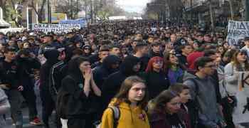 Οι μαθητές ξανά στον δρόμο: Ηχηρό μήνυμα ενάντια στην αντιεκπαιδευτική πολιτική