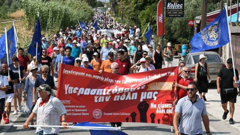 Πάτρα: Μεγάλη διαδήλωση για την υπογειοποίηση των γραμμών του τρένου