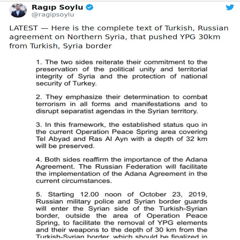 Πούτιν κι Ερντογάν συμφώνησαν σε νέα κατάπαυση πυρός 150 ωρών στη Συρία