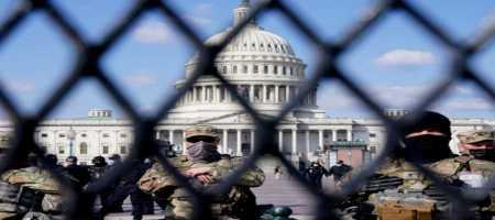 Στρατοκρατούμενη και πάλι η Ουάσιγκτον! Συρματοπλέγματα στο Καπιτώλιο