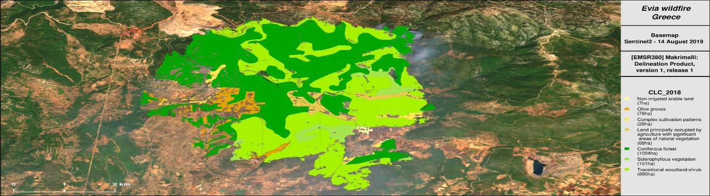 Τι κάηκε στην Εύβοια –Αποκλειστικός χάρτης με τις χρήσεις γης