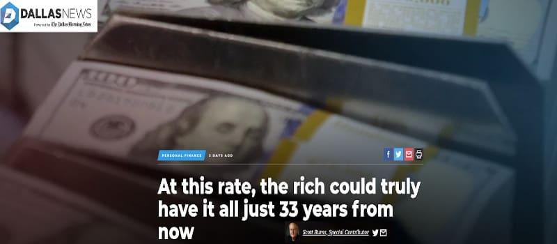 Το πλουσιότερο 10% θα κατέχει το 100% του πλούτου μέχρι το 2052