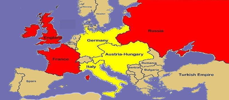 Χάρτης - Α' Παγκόσμιος Πόλεμος