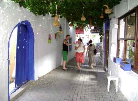 Alley leading to our Solicitors office Bodrum Turkey