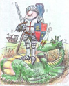 George and Dragon Cartoon