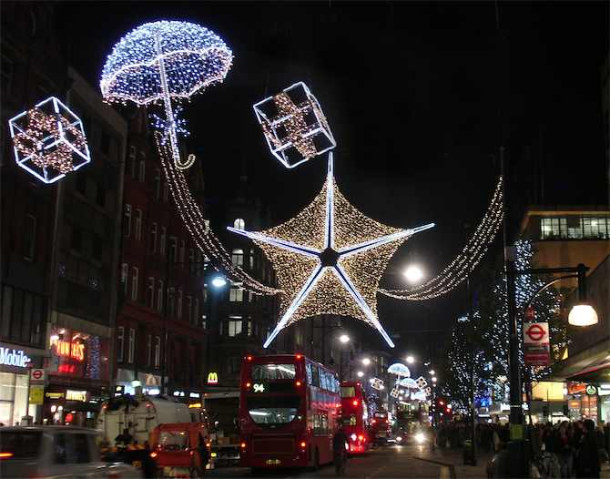 Oxford Street Christmas Lights, London 2011