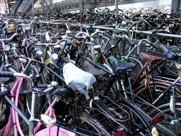 Bike Park in Amsterdam