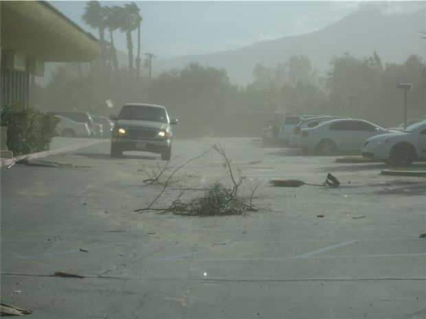 Palm Springs California Sand Storm