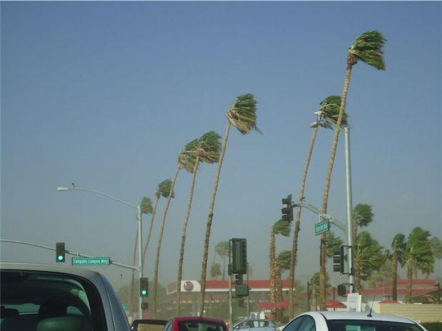 Palm Springs California Sand Storm