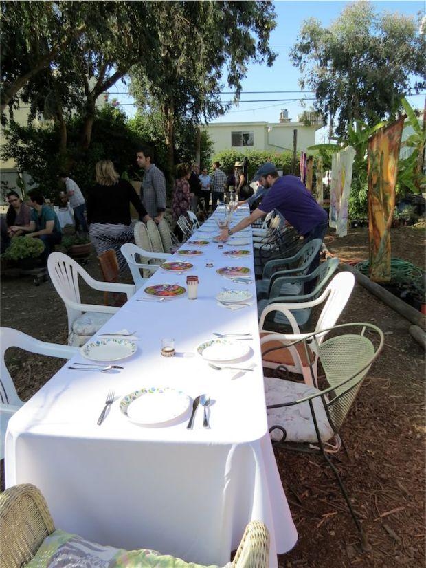 Sister city Long Beach Izmir Community Garden Lunch