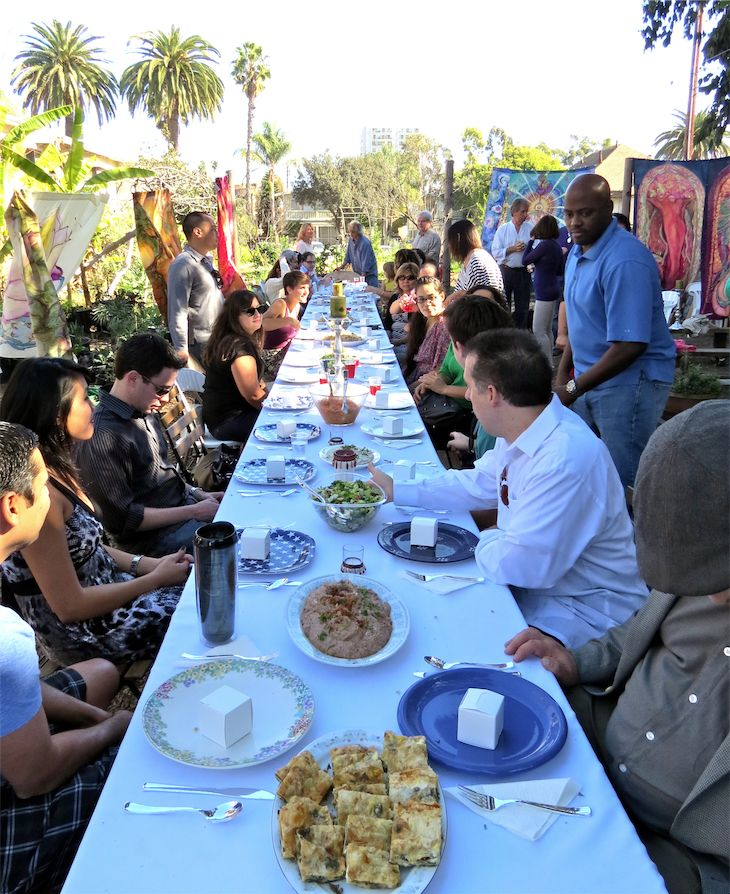 Sister city Long Beach Izmir Community Garden Lunch