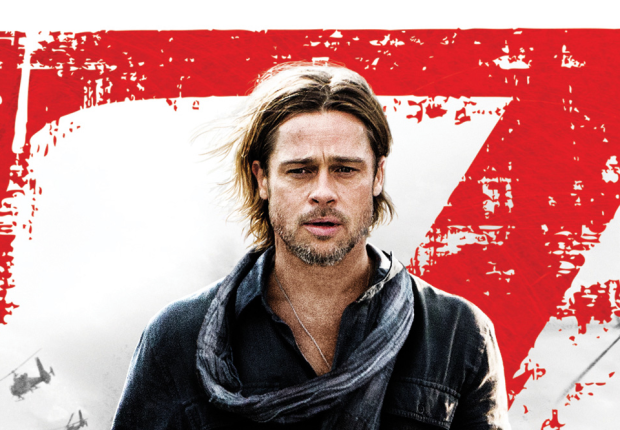 World War movie Poster with Brad Pitt Hollywood Oscars 2013