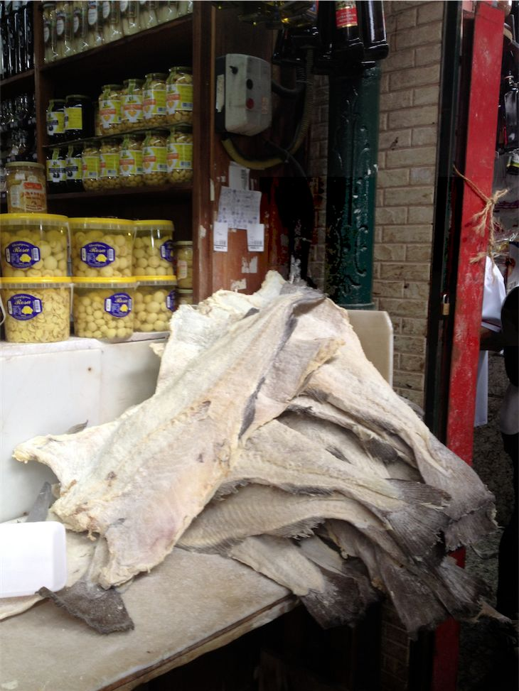 Salted Cod for Sale at the Mercado Market Sao Paulo Brazil