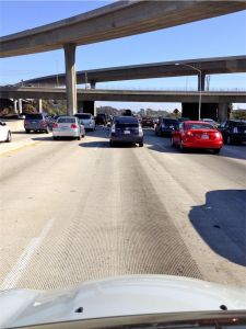 Los Angeles Freeway Bumper to Bumper Traffic