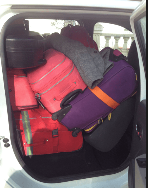 Our Luggage in our car Bodrum Airport