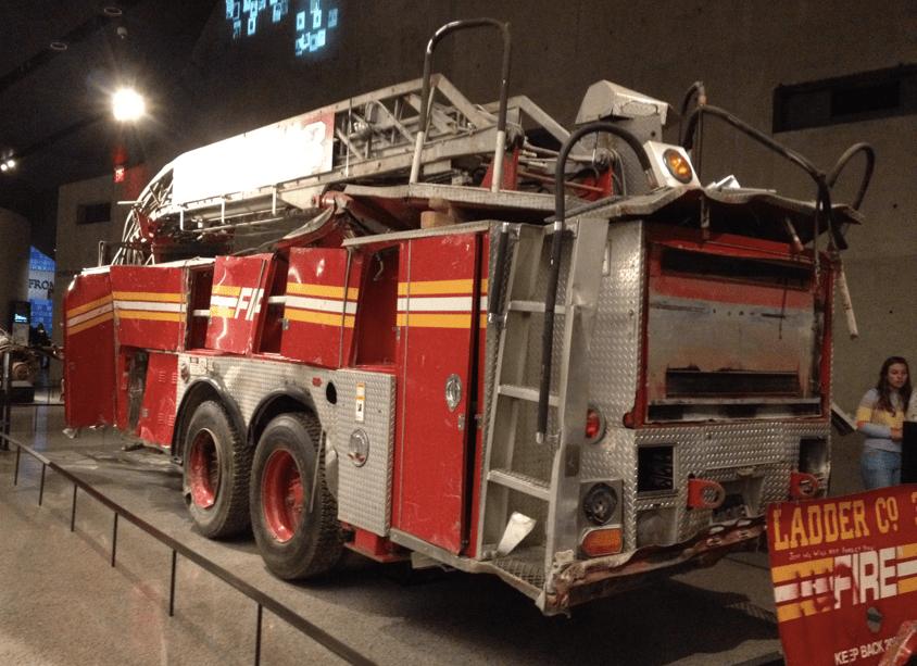 Ladder 3 Firetruck 9/11 Museum exhibit