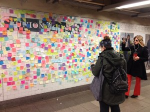 Subway Therapy Wall at Union Square NYC