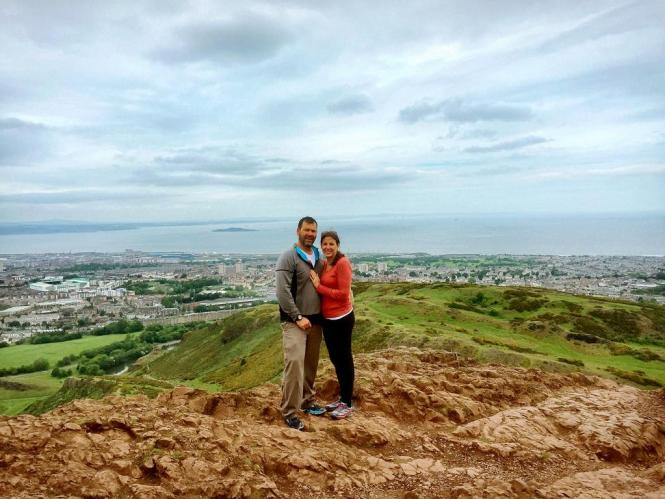 Views from the top of Arthurs Seat