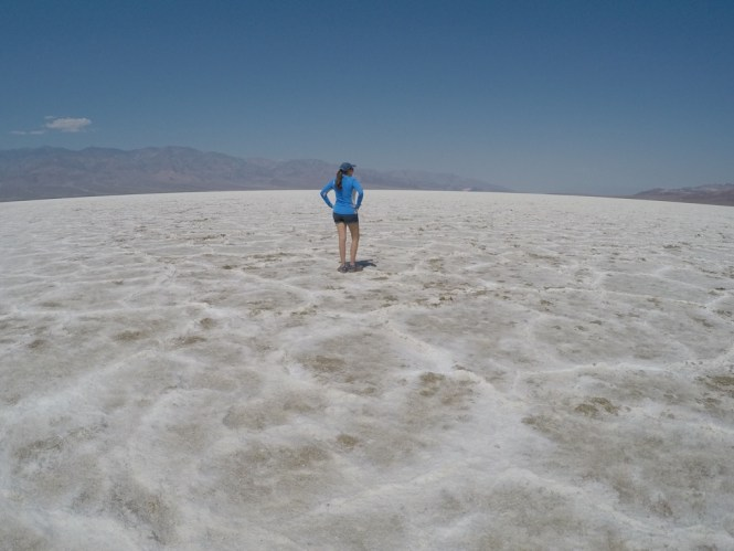 Salt Flats in Badwater Basin Death Valley
