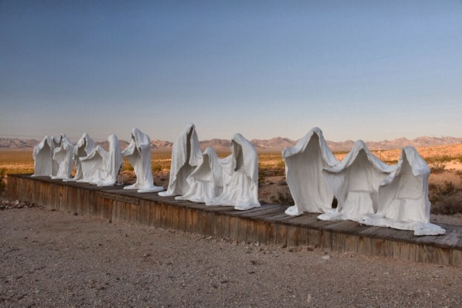 Death Valley Ghost sculptures