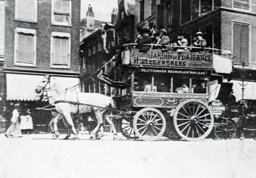 De paardenomnibus van de ROM, Noordblaak, 1905