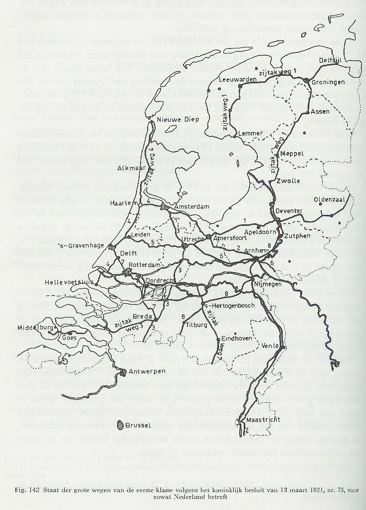 Het Rijkswegennet, 1813