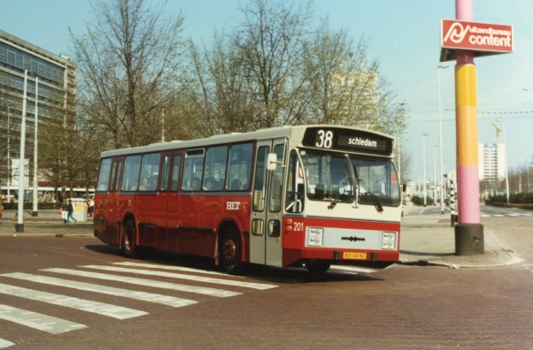 Bus 201, CSA-2, lijn 38, Stationsplein, 1982