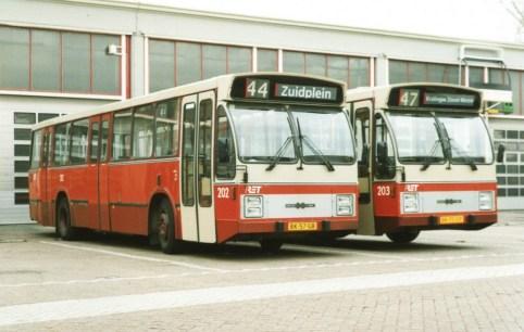 Bus 203 en 302, lijn 70, Zuidplein, 1988