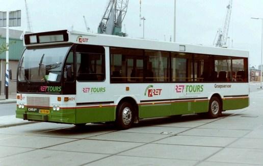 Bus 401, DAF-Hainje CSA-3, RET-Tours, Sluisjesdijk, 1996