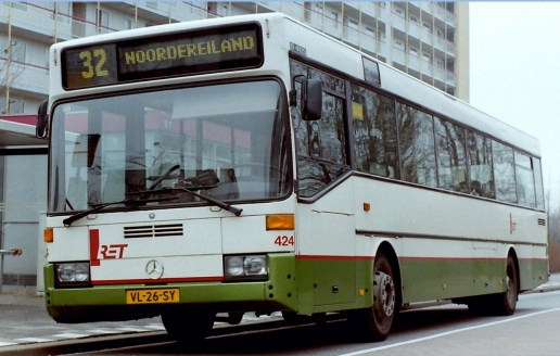 Bus 424, Mercedes-405, lijn 32, Van Noortwijckstraat, 1991