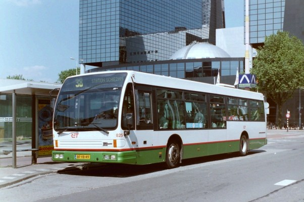 Bus 825, DAF Alliance City, lijn 38, Weena, 1997