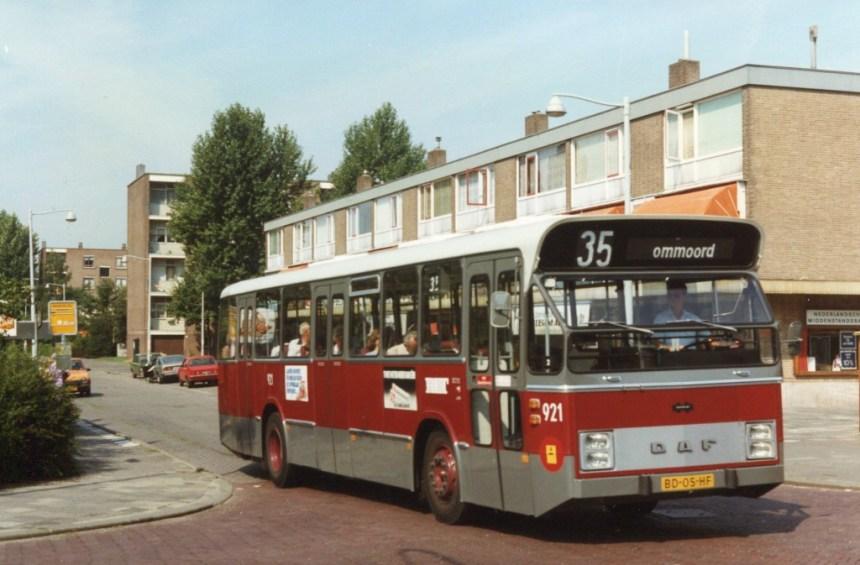 Bus 921, DAF-Den Oudsten, lijn 35, Argonautenweg, 1982