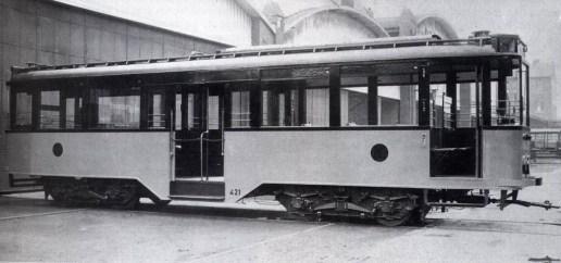 motorrijtuig 421, bij aflevering, 25-7-1929