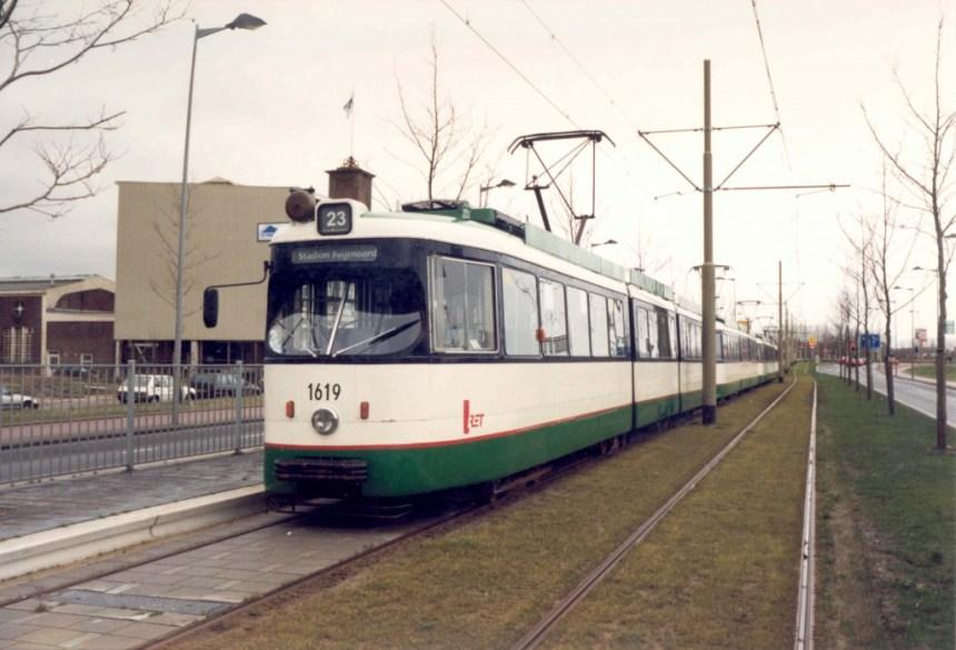 Motorrijtuig 1619, lijn 23, Stadionweg, 30-1-2000