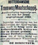 19031222 Aankondiging indienststelling brug. (RN)