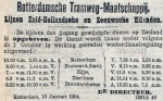 19040116 Wijziging dienstregeling ivm ijsgang. (RN)