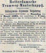 19040220 Buitengewone aandeelhoudersvergadering. (AH)