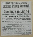 19220509 Opening lijn 14, verzameling Hans Kaper