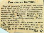 19370224 Een nieuwe tramlijn Aelbrechtskade-Willemsplein, lijn 17